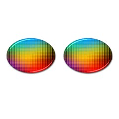 Blurred Color Pixels Cufflinks (oval) by BangZart
