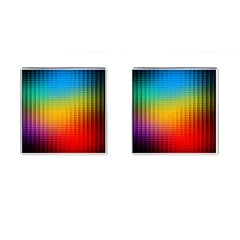 Blurred Color Pixels Cufflinks (square) by BangZart