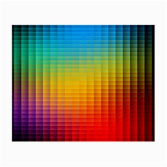 Blurred Color Pixels Small Glasses Cloth (2 Side) by BangZart
