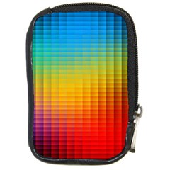Blurred Color Pixels Compact Camera Cases by BangZart