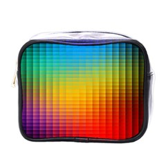 Blurred Color Pixels Mini Toiletries Bags by BangZart