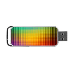 Blurred Color Pixels Portable Usb Flash (one Side) by BangZart