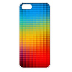 Blurred Color Pixels Apple Iphone 5 Seamless Case (white) by BangZart