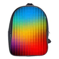Blurred Color Pixels School Bags (xl)  by BangZart