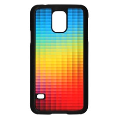 Blurred Color Pixels Samsung Galaxy S5 Case (black) by BangZart
