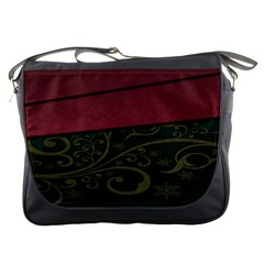 Beautiful Floral Textured Messenger Bags by BangZart