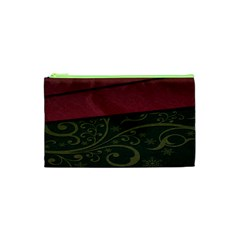 Beautiful Floral Textured Cosmetic Bag (xs) by BangZart