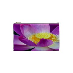 Pink Lotus Flower Cosmetic Bag (small)  by BangZart