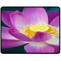 Pink Lotus Flower Fleece Blanket (medium)  by BangZart