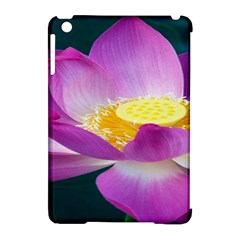 Pink Lotus Flower Apple Ipad Mini Hardshell Case (compatible With Smart Cover) by BangZart