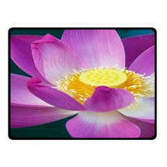 Pink Lotus Flower Double Sided Fleece Blanket (small)  by BangZart