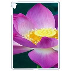 Pink Lotus Flower Apple Ipad Pro 9 7   White Seamless Case