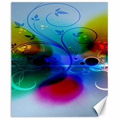 Abstract Color Plants Canvas 8  X 10  by BangZart