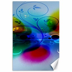 Abstract Color Plants Canvas 24  X 36  by BangZart