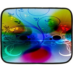 Abstract Color Plants Double Sided Fleece Blanket (mini)  by BangZart