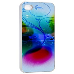 Abstract Color Plants Apple Iphone 4/4s Seamless Case (white) by BangZart