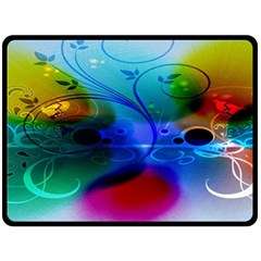 Abstract Color Plants Double Sided Fleece Blanket (large)  by BangZart