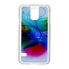 Abstract Color Plants Samsung Galaxy S5 Case (white) by BangZart
