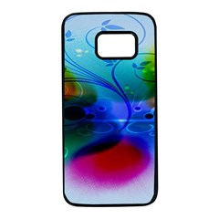 Abstract Color Plants Samsung Galaxy S7 Black Seamless Case