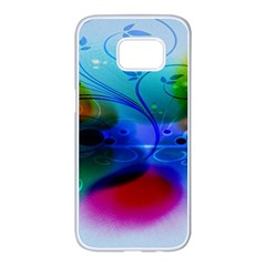 Abstract Color Plants Samsung Galaxy S7 Edge White Seamless Case