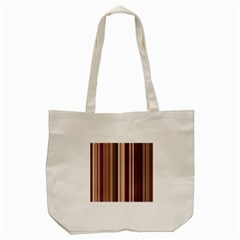 Brown Vertical Stripes Tote Bag (cream) by BangZart