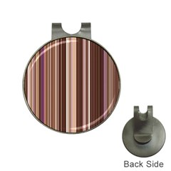 Brown Vertical Stripes Hat Clips With Golf Markers by BangZart