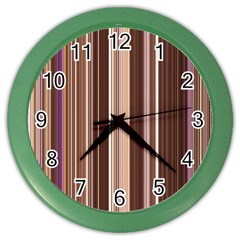 Brown Vertical Stripes Color Wall Clocks by BangZart