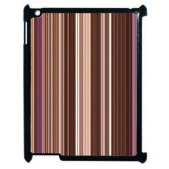 Brown Vertical Stripes Apple Ipad 2 Case (black) by BangZart