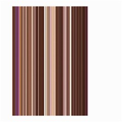 Brown Vertical Stripes Small Garden Flag (two Sides) by BangZart