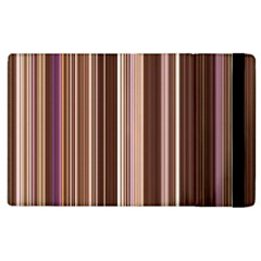 Brown Vertical Stripes Apple Ipad 2 Flip Case by BangZart