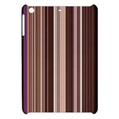 Brown Vertical Stripes Apple Ipad Mini Hardshell Case by BangZart