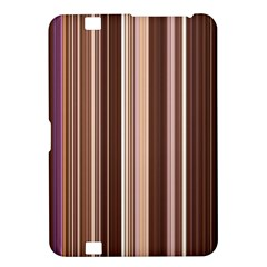 Brown Vertical Stripes Kindle Fire Hd 8 9  by BangZart