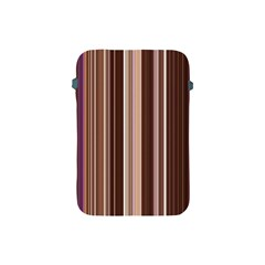 Brown Vertical Stripes Apple Ipad Mini Protective Soft Cases by BangZart