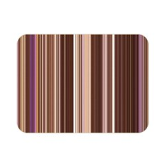 Brown Vertical Stripes Double Sided Flano Blanket (mini)  by BangZart
