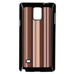 Brown Vertical Stripes Samsung Galaxy Note 4 Case (black) by BangZart