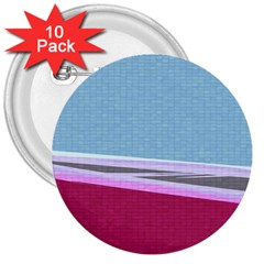 Cracked Tile 3  Buttons (10 Pack)