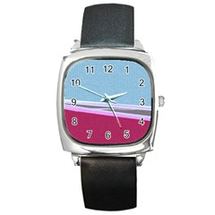 Cracked Tile Square Metal Watch by BangZart