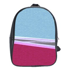 Cracked Tile School Bags (xl)  by BangZart