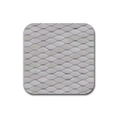 Roof Texture Rubber Coaster (square)  by BangZart