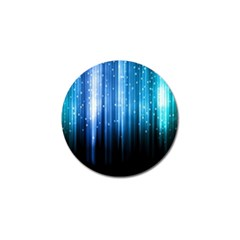 Blue Abstract Vectical Lines Golf Ball Marker (4 Pack) by BangZart