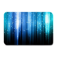 Blue Abstract Vectical Lines Plate Mats by BangZart