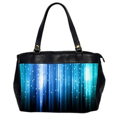 Blue Abstract Vectical Lines Office Handbags (2 Sides)  by BangZart