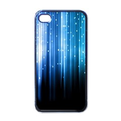 Blue Abstract Vectical Lines Apple Iphone 4 Case (black) by BangZart