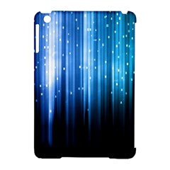Blue Abstract Vectical Lines Apple Ipad Mini Hardshell Case (compatible With Smart Cover) by BangZart