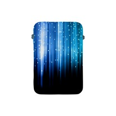 Blue Abstract Vectical Lines Apple Ipad Mini Protective Soft Cases by BangZart
