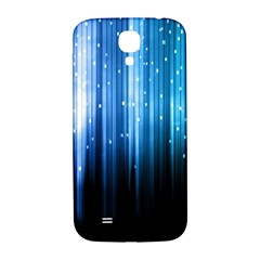Blue Abstract Vectical Lines Samsung Galaxy S4 I9500/i9505  Hardshell Back Case by BangZart