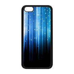 Blue Abstract Vectical Lines Apple Iphone 5c Seamless Case (black) by BangZart