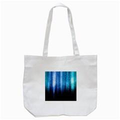 Blue Abstract Vectical Lines Tote Bag (white) by BangZart