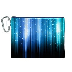 Blue Abstract Vectical Lines Canvas Cosmetic Bag (xl) by BangZart
