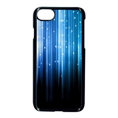 Blue Abstract Vectical Lines Apple Iphone 7 Seamless Case (black) by BangZart